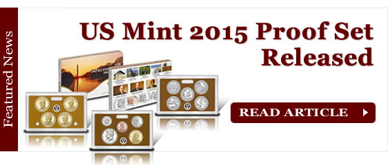 2015 Proof Set from US Mint at San Francisco