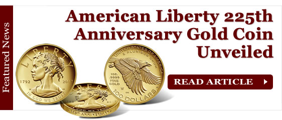 American Liberty 225th Anniversary Gold Coin Unveiled