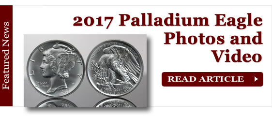 2017 American Palladium Eagle Bullion Coin Photos