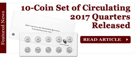 Set of 10 Circulating 2017 America the Beautiful Quarters Released