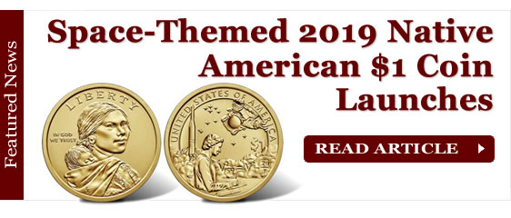Space-Themed 2019 Native American $1 Coin Launches