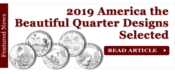 2019 America the Beautiful Quarter and Coin Designs Selected