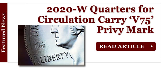 2020-W Quarters Carry 'V75' Privy Mark for End of WWII