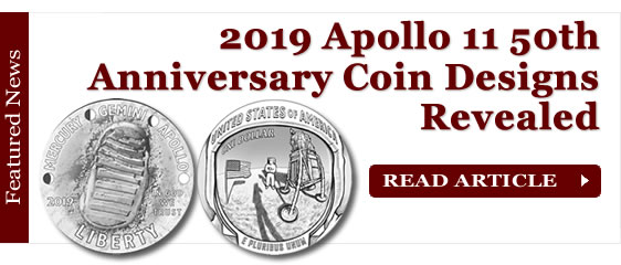 2019 Apollo 11 50th Anniversary Commemorative Coin Designs Revealed