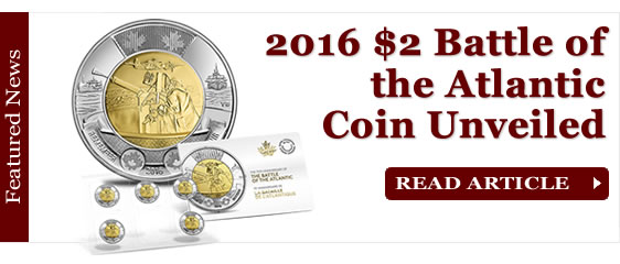 Canadian 2016 $2 Battle of the Atlantic Coin