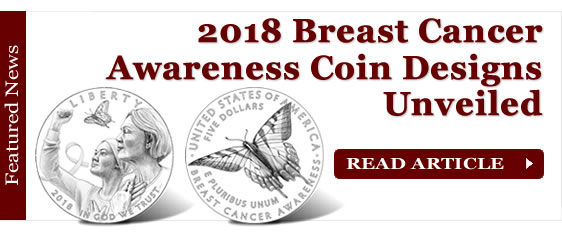 2018 Breast Cancer Awareness Commemorative Coin Designs Unveiled
