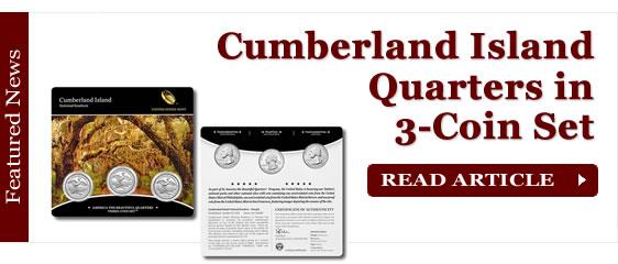Cumberland Island Quarters for Georgia in Three-Coin Set