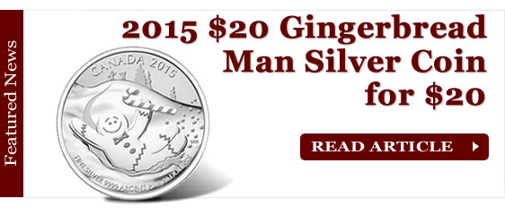 2015 $20 Gingerbread Man Silver Coin for $20