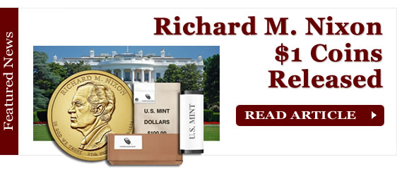 Richard M. Nixon Presidential $1 Coins in Rolls, Bags and Boxes