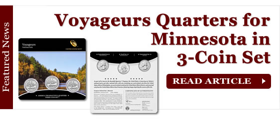 Voyageurs Quarters for Minnesota in Three-Coin Set